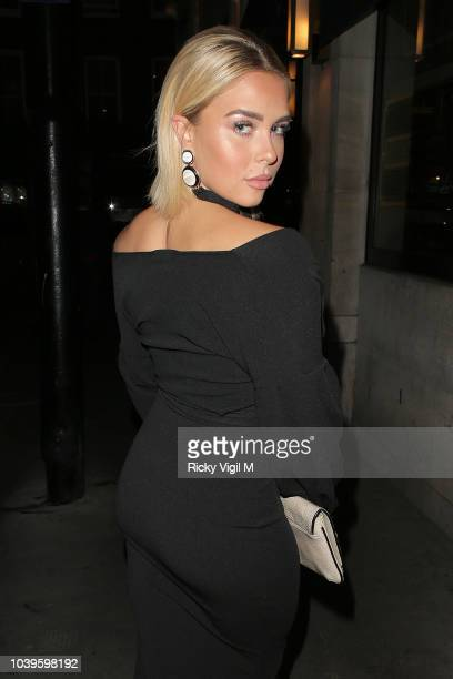 Gabby Allen attend an official dinner announcing Alexandra Cane as a new brand ambassador of BoohooMan on September 24 2018 in London England