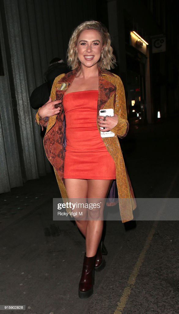 Gabby Allen attends In The Style TOTES OVER IT Valentine's Party at Libertine on February 8, 2018 in London, England.