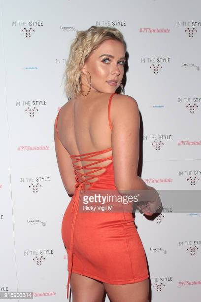 Gabby Allen attends In The Style TOTES OVER IT Valentine's Party at Libertine on February 8 2018 in London England