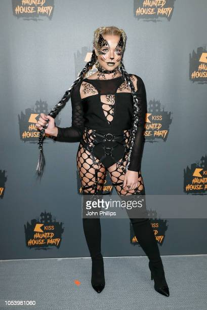 Gabby Allen attends KISS Haunted house Party 2018 at The SSE Arena Wembley on October 26 2018 in London England