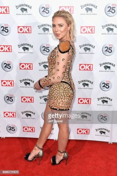 Gabby Allen attends OK Magazine's 25th Anniversary Party at The View from The Shard on March 21 2018 in London England
