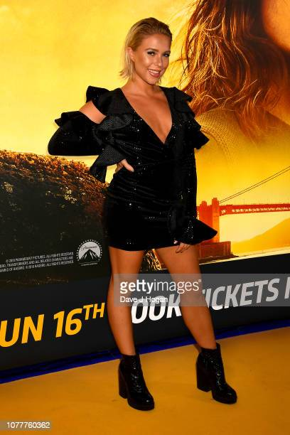 Gabby Allen attends the Bumblebee UK Screening at Cineworld Leicester Square on December 05 2018 in London England