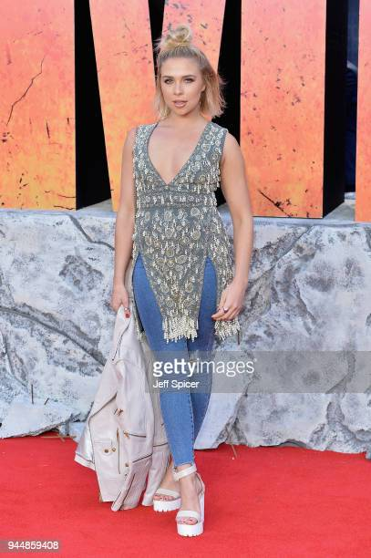 Gabby Allen attends the European Premiere of 'Rampage' at Cineworld Leicester Square on April 11 2018 in London England