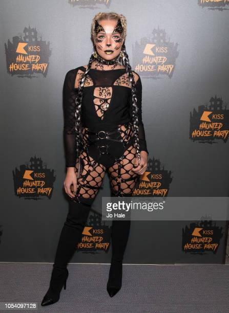 Gabby Allen attends the Kiss Haunted House Party 2018 at The SSE Arena Wembley on October 26 2018 in London England