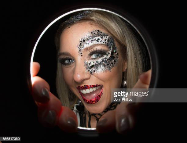 Gabby Allen attends the Kiss Haunted House Party held at SSE Arena on October 26 2017 in London England