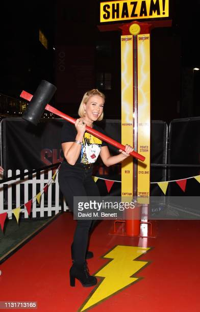 Gabby Allen attends the launch of the DC 'Shazam' Fun Fair at Bernie Spain Gardens South Bank on March 20 2019 in London England