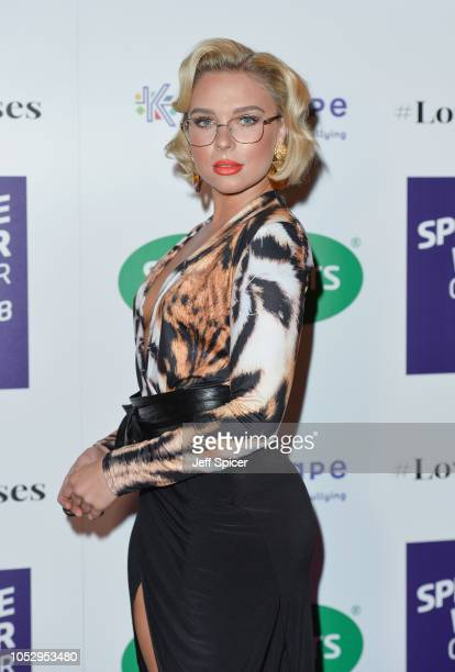 Gabby Allen attends the Specsavers 'Spectacle Wearer Of The Year' at 8 Northumberland Avenue on October 24 2018 in London United Kingdom