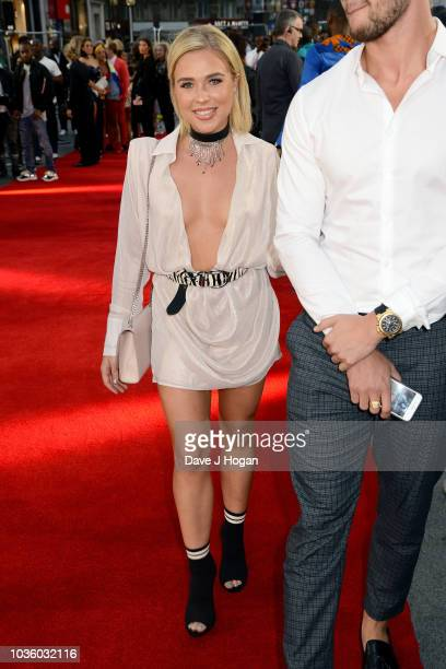 Gabby Allen attends the World Premiere of 'The Intent 2 The Come Up' at Cineworld Leicester Square on September 19 2018 in London England