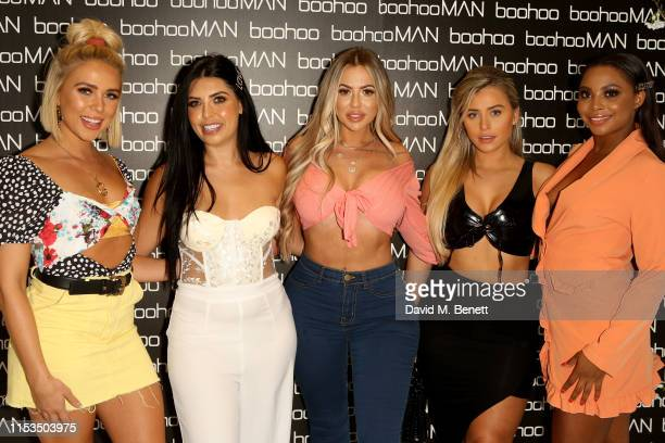Gabby Allen Cara Delahoyde Holly Hagan Ellie Brown and Samira Mighty attend Love Island Launch night with boohoocom at the Shankly Hotel on June 03...