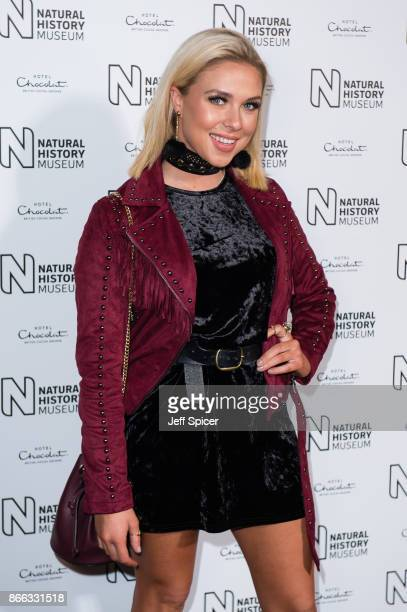 Gabby Allen during the launch of the Natural History Museum Ice Rink on October 25 2017 in London England