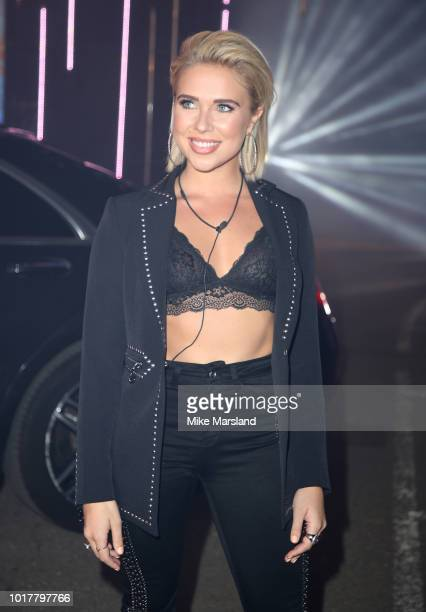 Gabby Allen enters the Celebrity Big Brother house at Elstree Studios on August 16 2018 in Borehamwood England