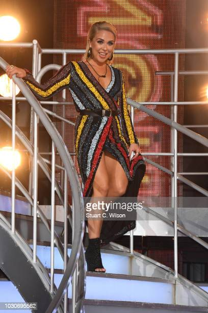 Gabby Allen is evicted during the Celebrity Big Brother final 2018 at Elstree Studios on September 10 2018 in Borehamwood England