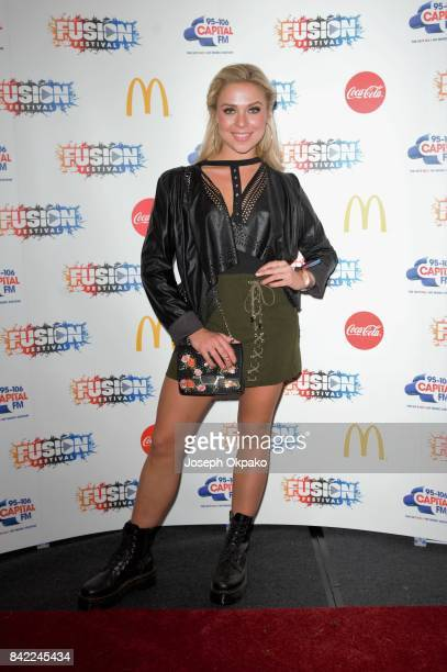 Gabby Allen poses backstage at Fusion Festival on September 3 2017 in Liverpool England
