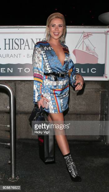 Gabby Allen seen attending Mark Hill International Women's Day event at MV Hispaniola on March 7 2018 in London England