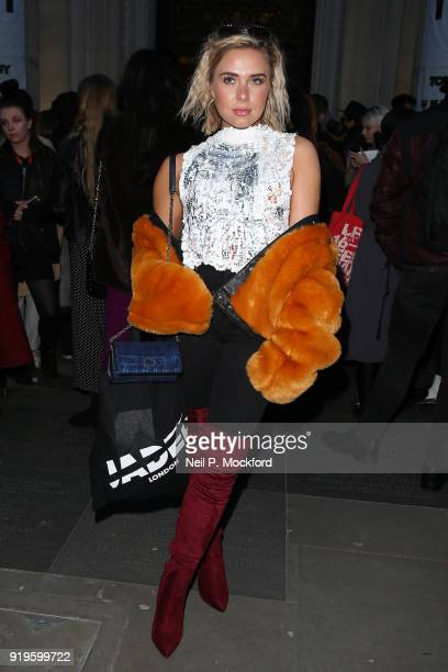 Gabby Allen seen attending Pam Hogg at Freemason's Hall during LFW February 2018 on February 16 2018 in London England
