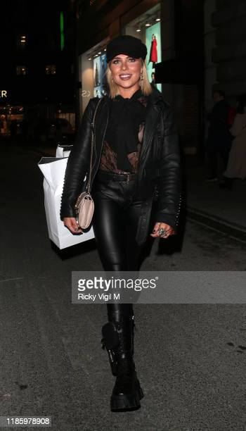Gabby Allen seen attending the launch party for Anna Vakili x PrimaLash at Libertine club on November 06 2019 in London England