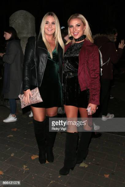 Gabby Allen seen attending the Natural History Museum Ice Rink launch party on October 25 2017 in London England