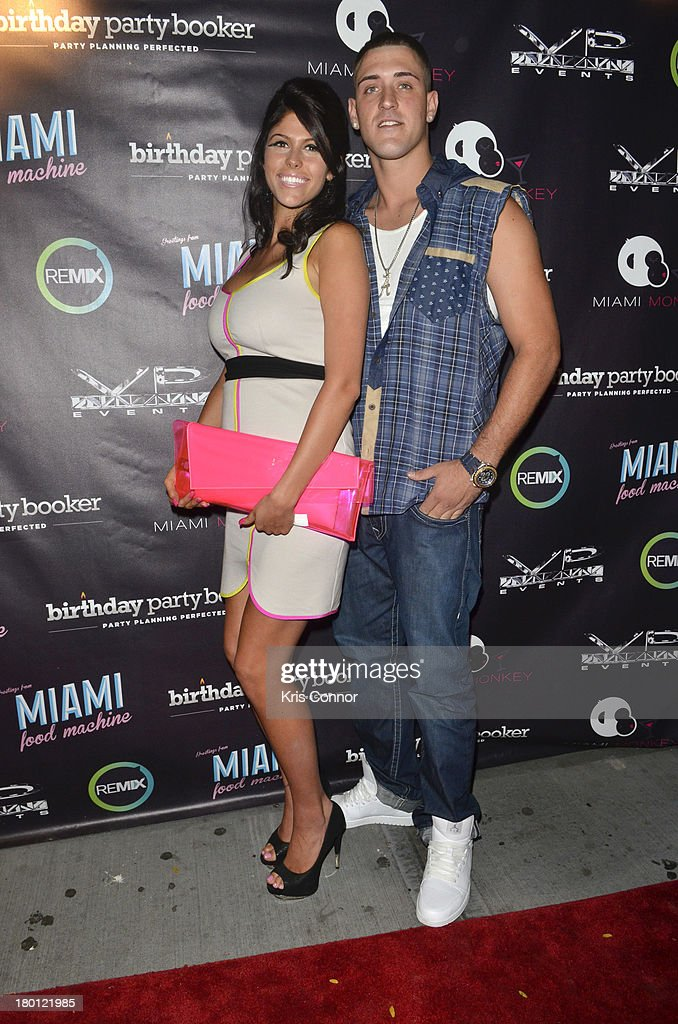 Gabby and AJ pose for photos during the 'Miaimi Monkey' New Screening at 49 Grove on September 8, 2013 in New York City.