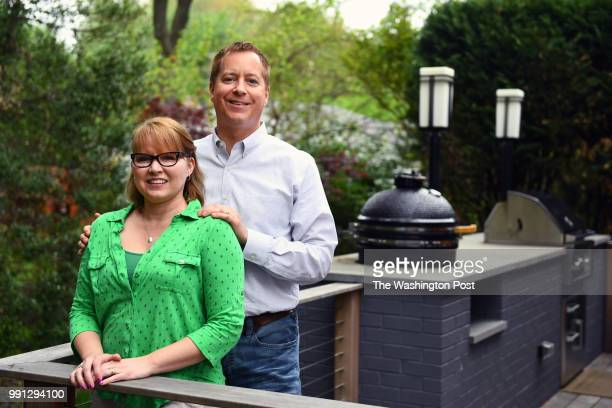 Gabby and Todd Gillenwater renovated the home they bought two years ago to expand the kitchen with an eatin area and a deck that has a builtin smoker...