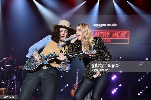Gabby Barrett performs onstage during Country Heat for CRS 2020 at Omni Hotel on February 19 2020 in Nashville Tennessee