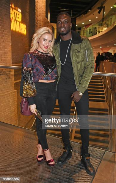Gabby Dawn Allen and Marcel Somerville attend The KA GRM Daily Rated Awards at The Roundhouse on October 24 2017 in London England