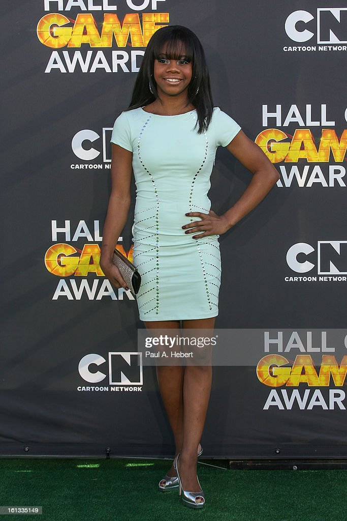 Gabby Douglas arrives at the 3rd Annual Cartoon Network's 'Hall Of Game' Awards held at Barker Hangar on February 9, 2013 in Santa Monica, California.