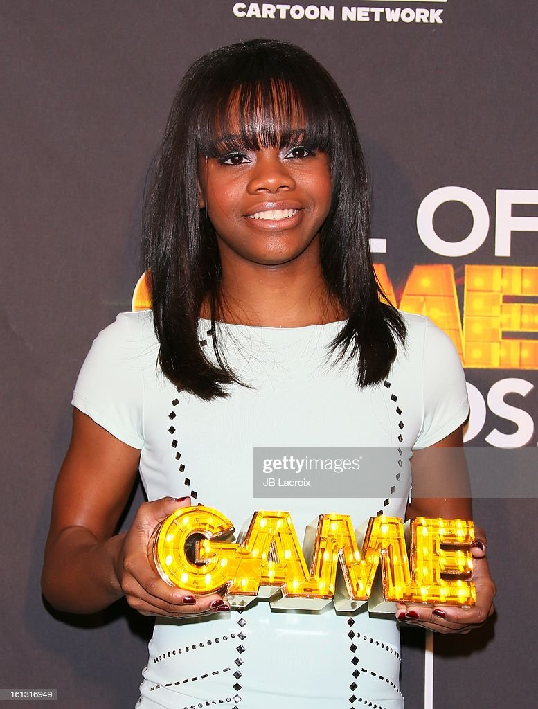 Gabby Douglas attends the Cartoon Network 3rd Annual Hall of Game Awards at Barker Hangar on February 9, 2013 in Santa Monica, California.