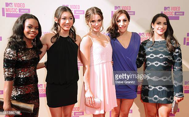 Gabby Douglas Kyla Ross McKayla Maroney Jordyn Wiber and Alexandra Raisman arrive arrive at the 2012 MTV Video Music Awards at Staples Center on...
