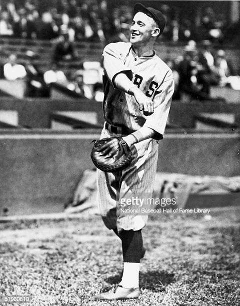 Gabby Hartnett of the Chicago Cubs throws plays catch before a game Charles Leo Hartnett played for the Chicago Cubs from 192240