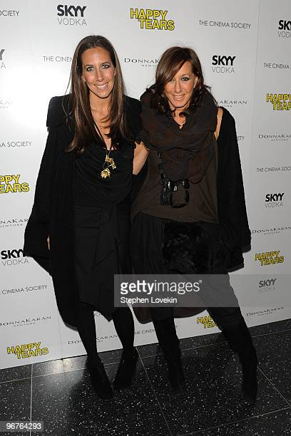 Gabby Karan and designer Donna Karan attend a screening of Happy Tears hosted by the Cinema Society and Donna Karan at The Museum of Modern Art on...