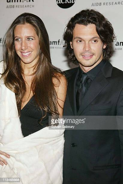 Gabby Karan and husband during amfAR and ACRIA Honor Herb Ritts for His Work and Activism at Sotheby's in New York New York United States