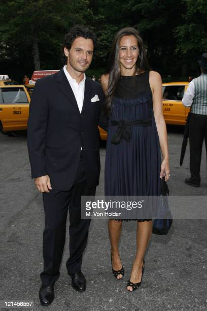 Gabby Karan and husband during The Fresh Air Fund Annual Spring Gala at Tavern on the Green in New York NY United States