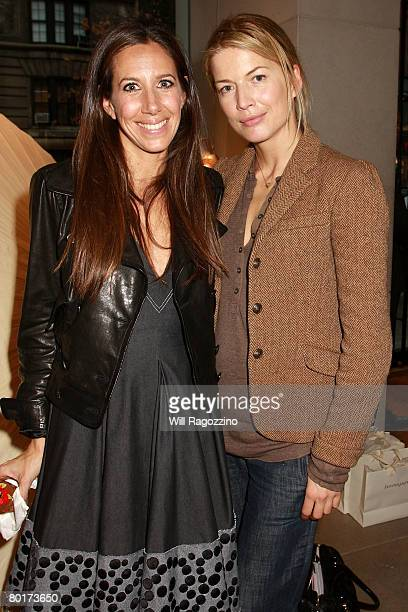 Gabby Karan De Felice and Basia Namoum attend the Bonnie Young 2008 Spring Trunk Show at the Donna Karan Collection Boutique March 8 2008 in New York...