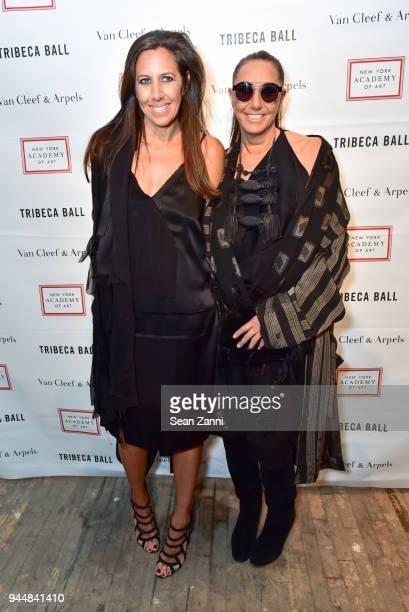 Gabby Karan De Felice and Donna Karan attend Tribeca Ball to benefit New York Academy of Art at New York Academy of Art on April 9 2018 in New York...