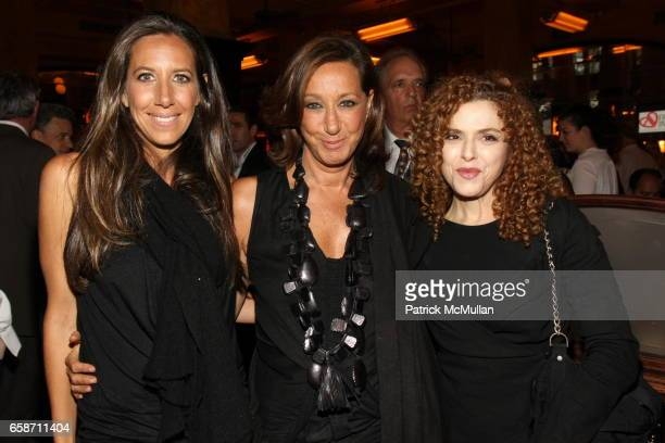 Gabby Karan Donna Karan and Bernadette Peters attend FRIENDS IN DEED Fall Benefit Honoring Donna Karan and Andy Cohen at Balthazar on June 16 2009 in...