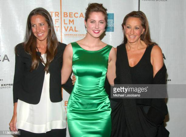 Gabby Karan Eva Amurri and Donna Karan during 6th Annual Tribeca Film Festival The Education of Charlie Banks Premiere at Chelsea Clearview Cinemas...