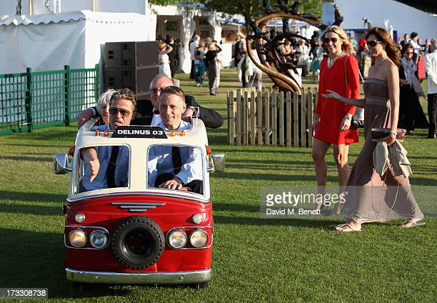 Gabby Logan and Beverley Turner enjoy the atmosphere as they attend The Henley Festival 2013 in partnership with BMW on July 11 2013 in...