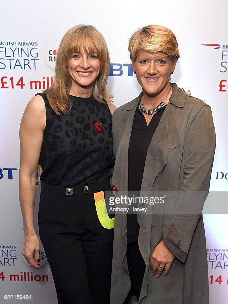 Gabby Logan and Clare Balding attend the British Airways Flying Start event at BT Tower on November 10 2016 in London England The event celebrates...