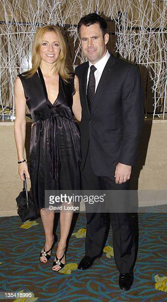 Gabby Logan and guest during 2005 SPARKS Charity Winter Ball û Arrivals at Park Lane Hilton in London Great Britain