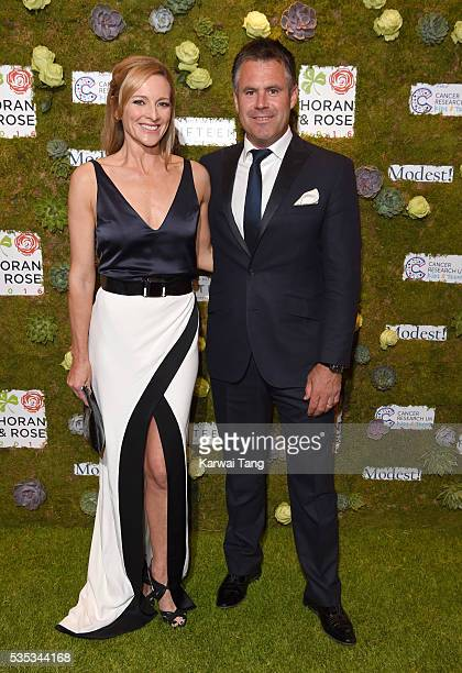 Gabby Logan and Kenny Logan arrive for The Horan And Rose event at The Grove on May 29 2016 in Watford England