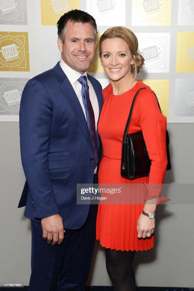 Gabby Logan and Kenny Logan attend the TRIC awards 2014 at the Grosvenor House Hotel on March 11, 2014 in London, England.