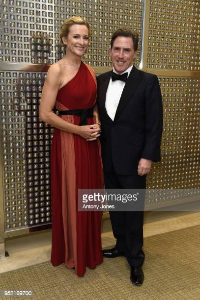 Gabby Logan and Rob Brydon attend the British Airways golf day and gala ball at The Grove on April 27 2018 in London England