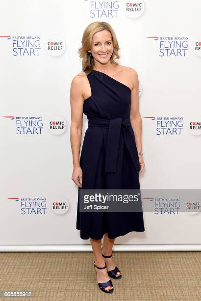 Gabby Logan attends British Airways' Flying Start Ball at The Grove on April 7 2017 in Hertfordshire United Kingdom The event has raised nearly a...