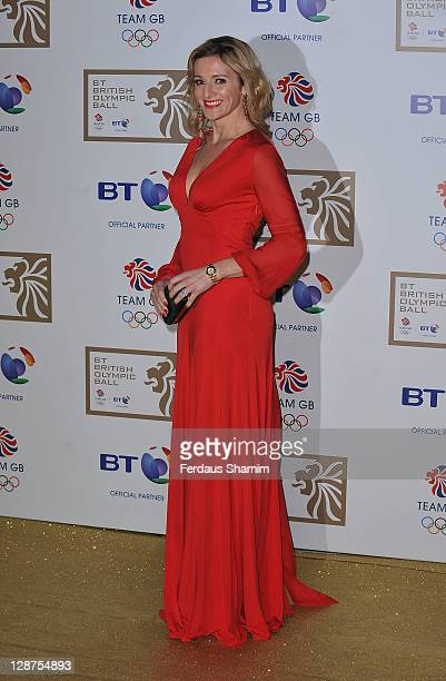Gabby Logan attends the British Olympic Ball at Olympia Exhibition Centre on October 7 2011 in London England