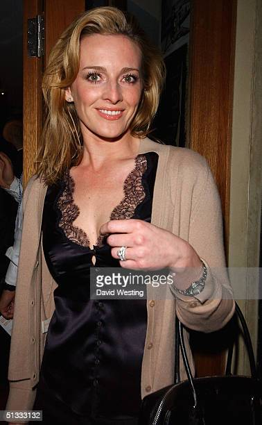 Gabby Logan attends the opening of new restaurant 'Leon' on Great Marlborough Street on September 21 2004 in London