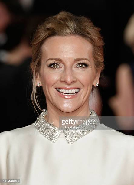 Gabby Logan attends the Royal Film Performance of Spectreat Royal Albert Hall on October 26 2015 in London England