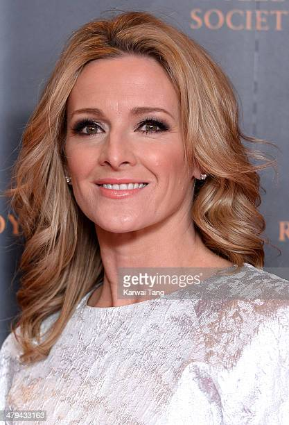 Gabby Logan attends the RTS programme awards at Grosvenor House on March 18 2014 in London England