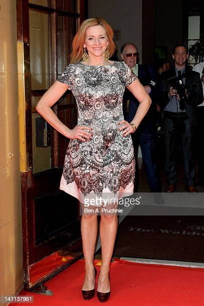 Gabby Logan attends the Tesco Magazine Mum Of The Year 2012 at The Waldorf Hilton Hotel on March 11 2012 in London England