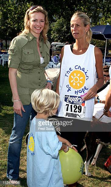 Gabby Logan Bo Jonsson and Ulrika Jonsson during 5K Hydro Active Women's Challenge London Photocall at Hyde Park in London Great Britain
