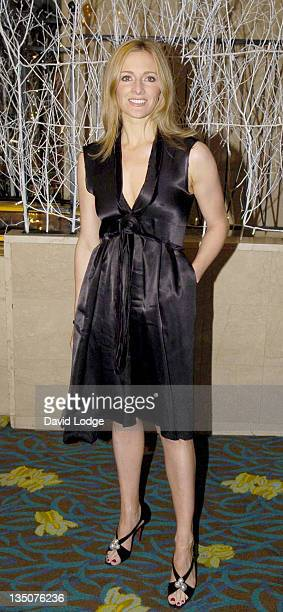Gabby Logan during 2005 SPARKS Charity Winter Ball – Arrivals at Park Lane Hilton in London Great Britain